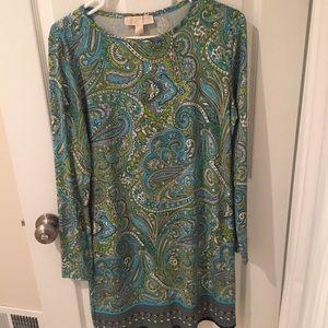 Michael Kors paisley shift dress